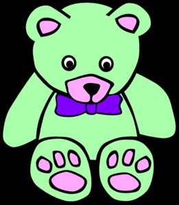 Teddy clipart green #11