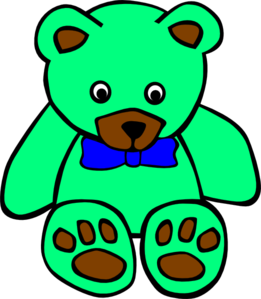 Teddy clipart green #9