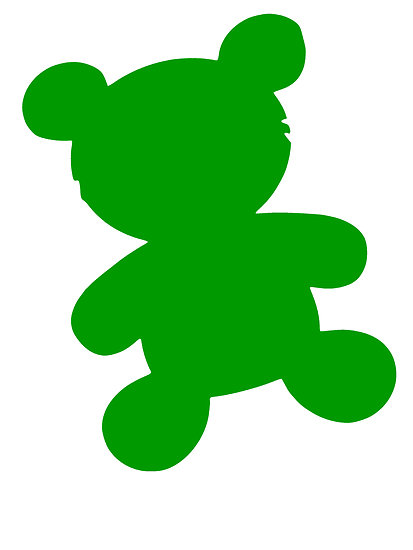 Teddy clipart green #12
