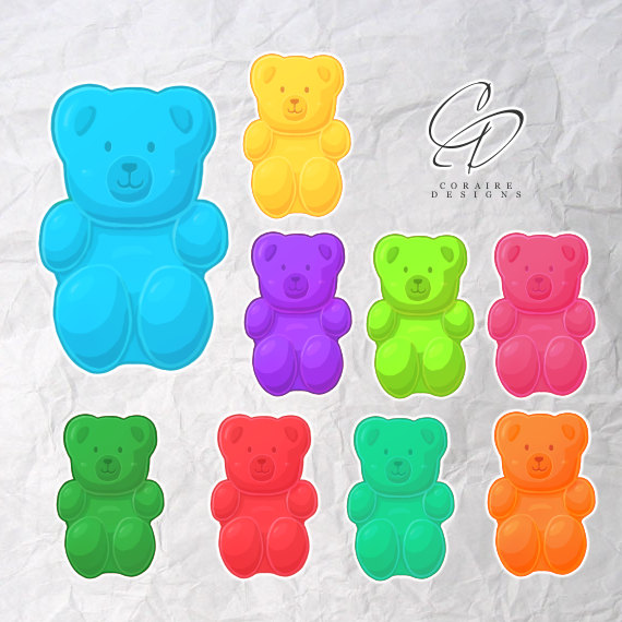Teddy clipart gummy bear Clipart from CoraireDesigns  Gummy
