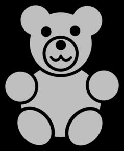 Teddy clipart gummy bear Clip royalty Art Gray