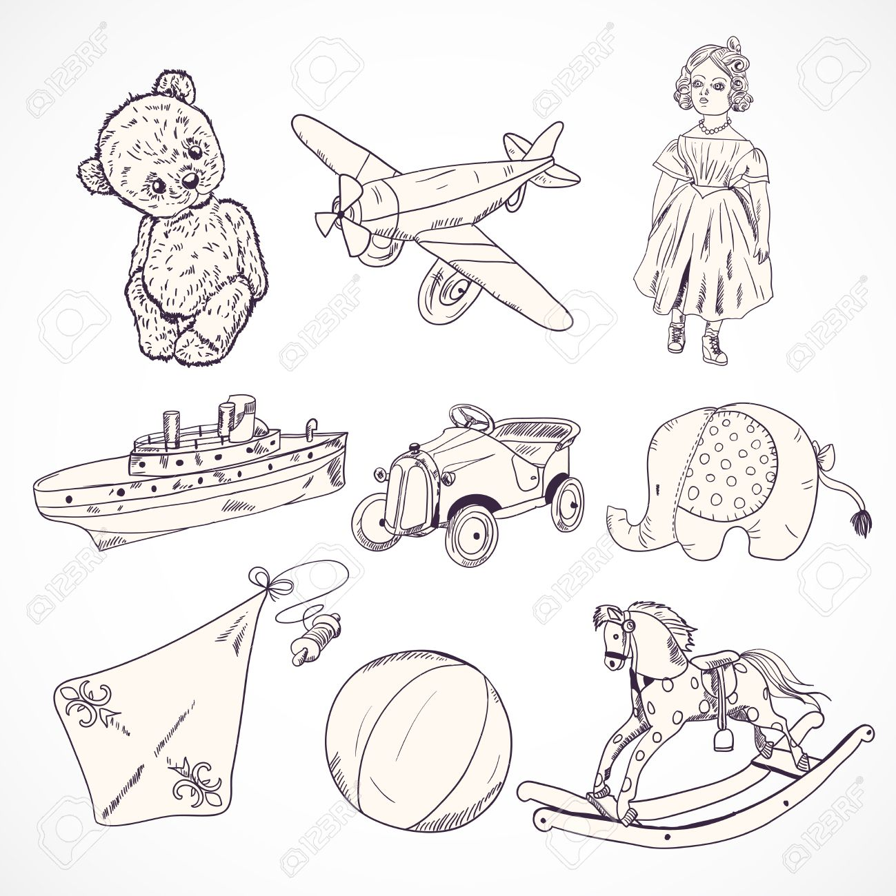 Teddy clipart kids toy #6