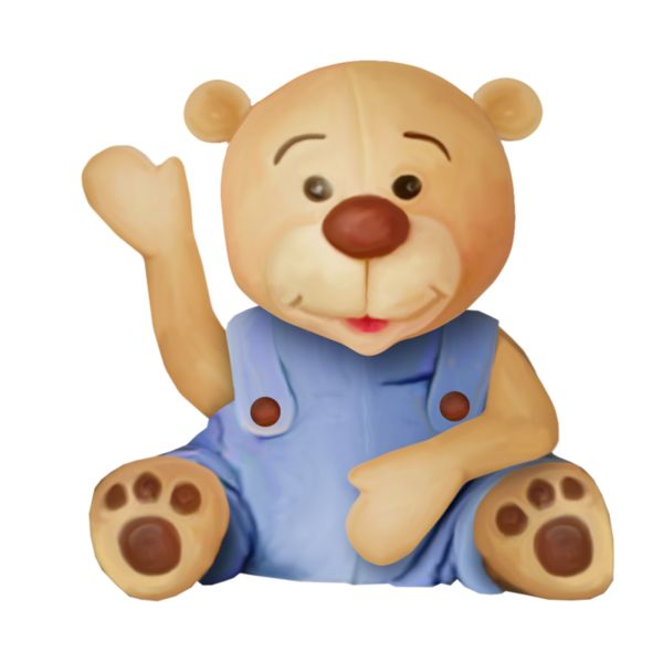 Teddy clipart kids toy #1