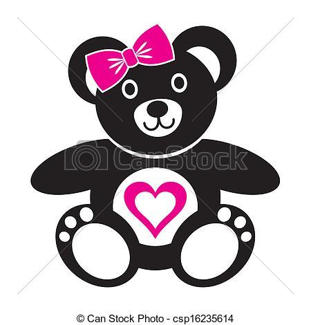 Teddy clipart line art Bear Vector Teddy bear icon