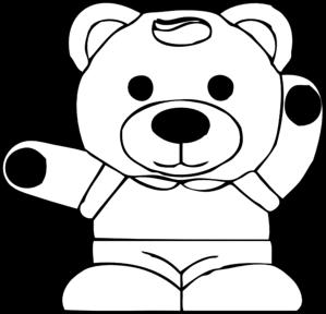 Teddy clipart line art Clip at Clip  com