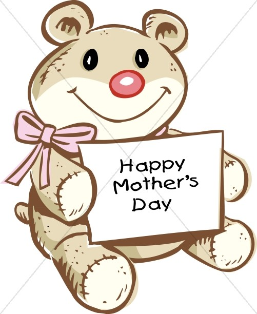 Teddy clipart mothers day Cute with Teddy Art Mothers