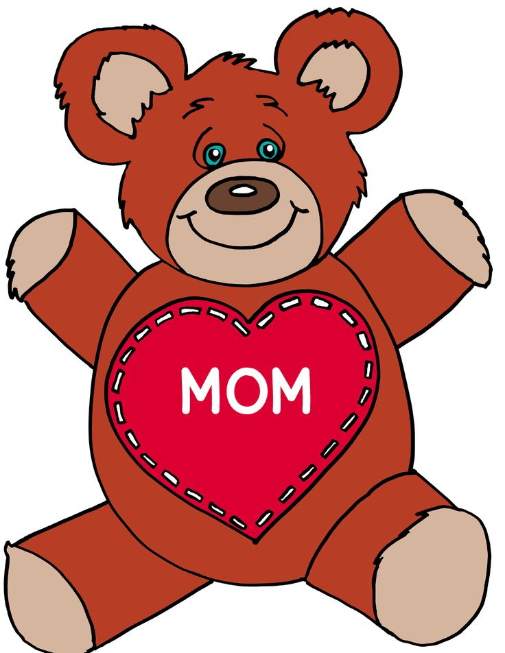 Teddy clipart mothers day Best from Children Pinterest A