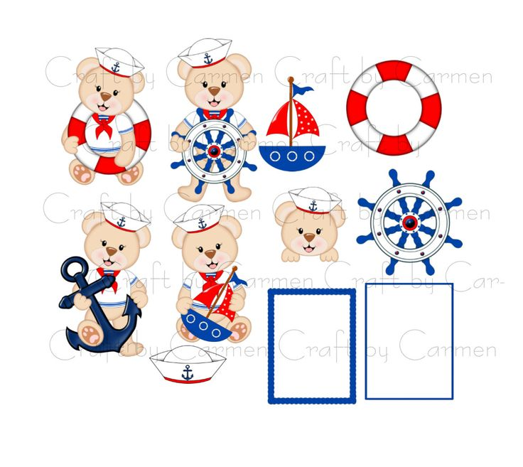 Teddy clipart nautical #6