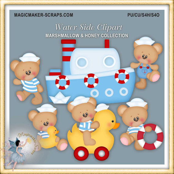 Teddy clipart nautical #15