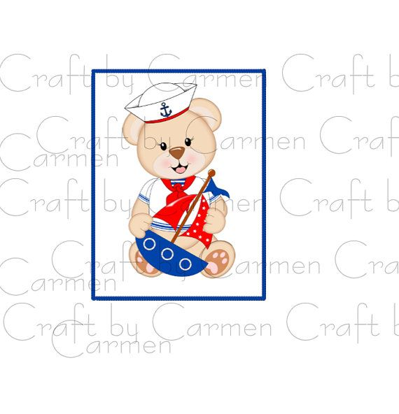 Teddy clipart nautical #9
