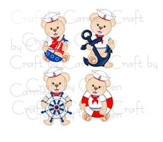 Teddy clipart nautical #10