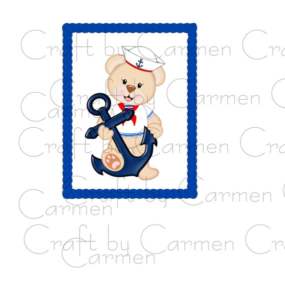 Teddy clipart nautical #14