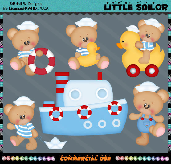 Teddy clipart nautical #12