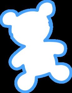 Teddy clipart outline Art  at Clip Bear