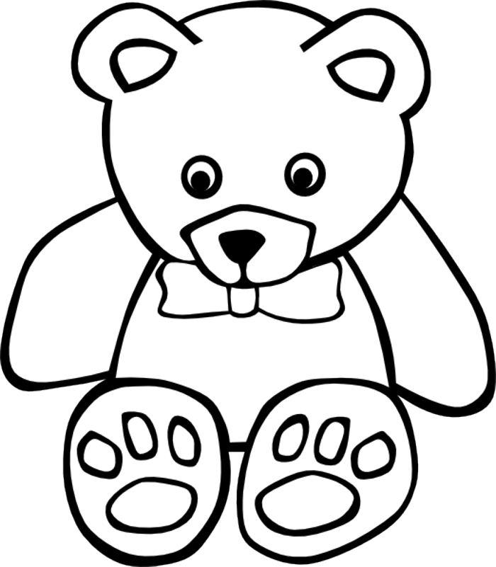 Teddy clipart outline Clipart Clip Teddy outline Art