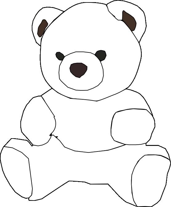 Teddy clipart outline Teddy coloring outline outline Teddy
