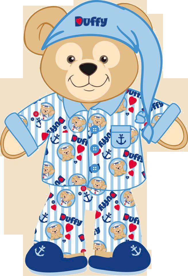 Teddy clipart pajama party #6