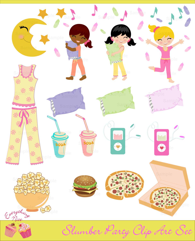 Teddy clipart pajama party #9