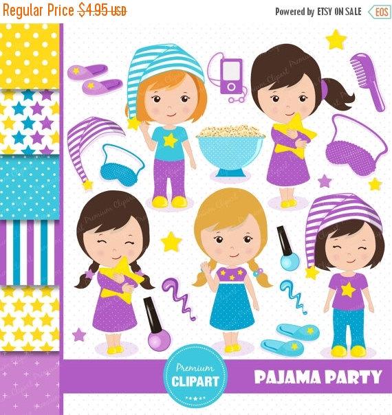Teddy clipart pajama party #10