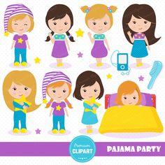 Teddy clipart pajama party #14