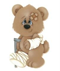 Teddy clipart poorly #7
