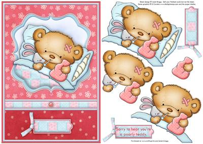 Teddy clipart poorly #11