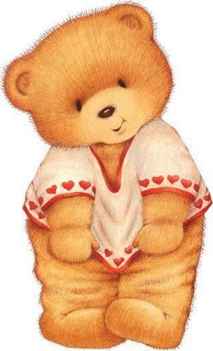 Teddy clipart poorly #10