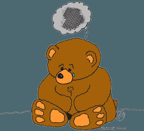 Teddy clipart sad #10