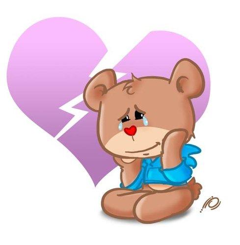 Teddy clipart sad #14