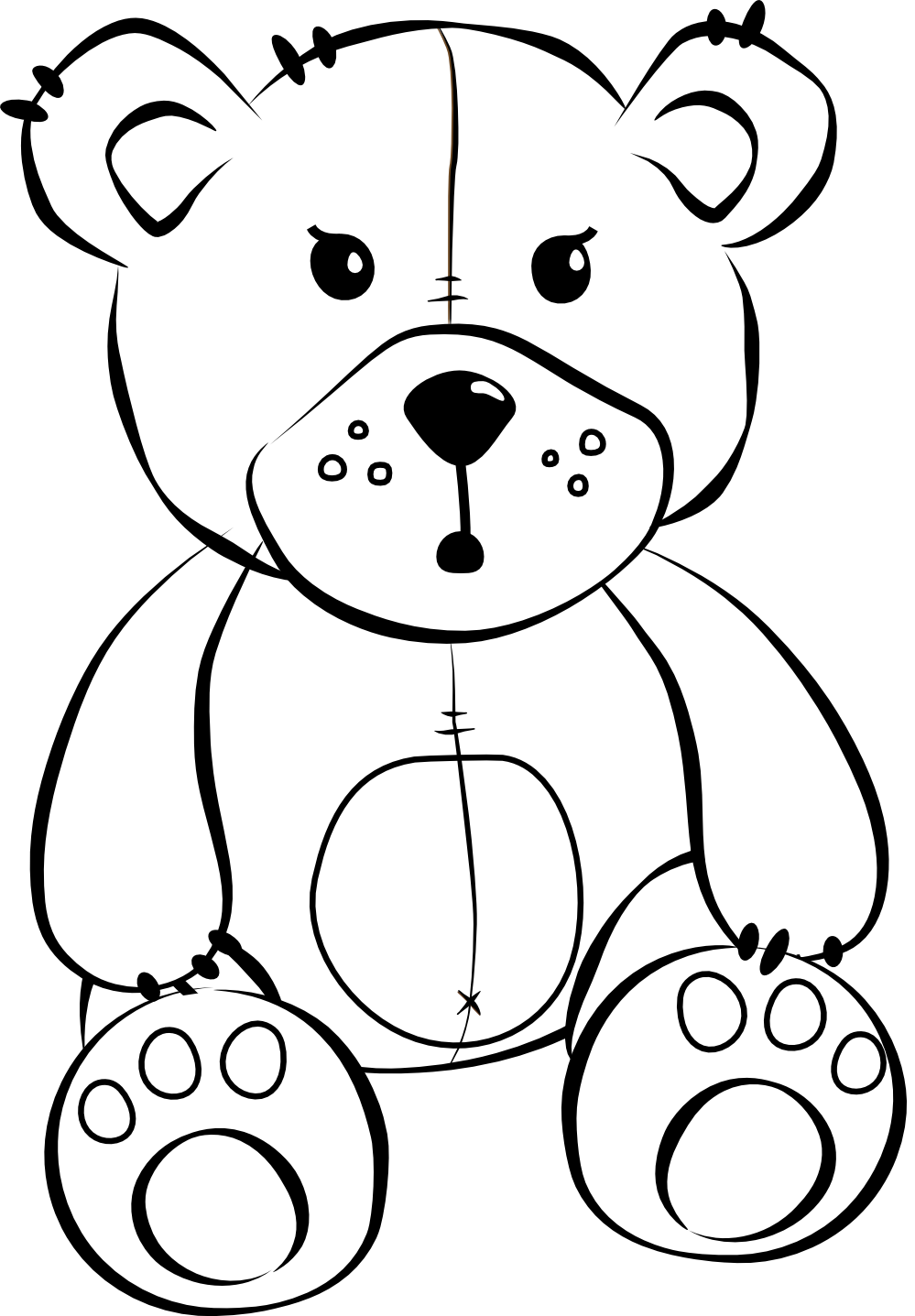 Teddy clipart stuffed animal #11