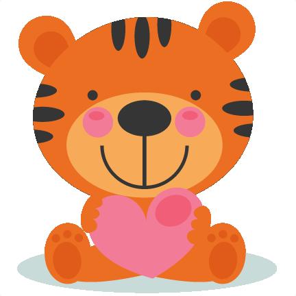 Teddy clipart tiger Art Tigger cut Valentine SVG