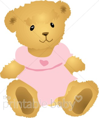 Teddy clipart toy Clipart with Dress Pink Clipart