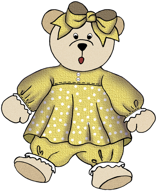 Teddy clipart toy doll #3
