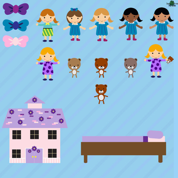 Teddy clipart toy doll #9