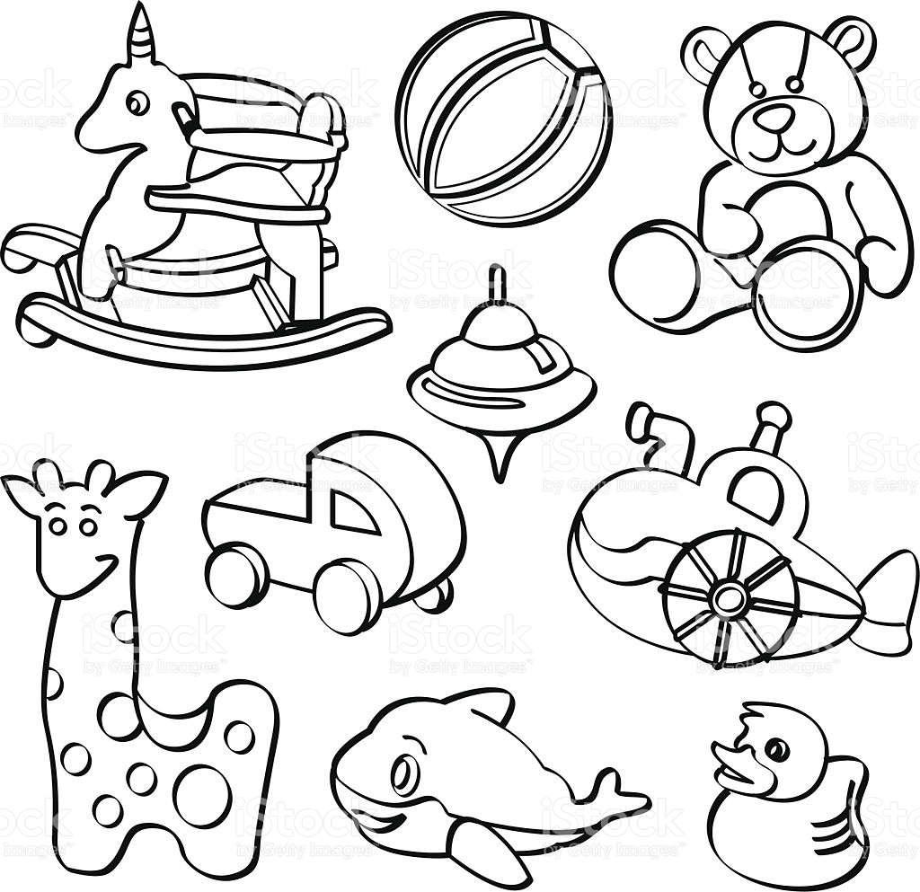 Teddy clipart toy game Art stock vector collection black