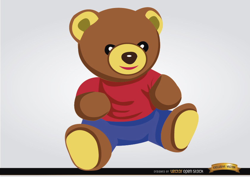Teddy clipart toy game Download baby toy Vector Image