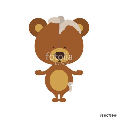 Teddy clipart toy game Icon fun bear damaged play