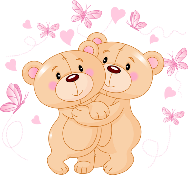 Teddy clipart transparent Valentine Teddy PNG Butterflies with