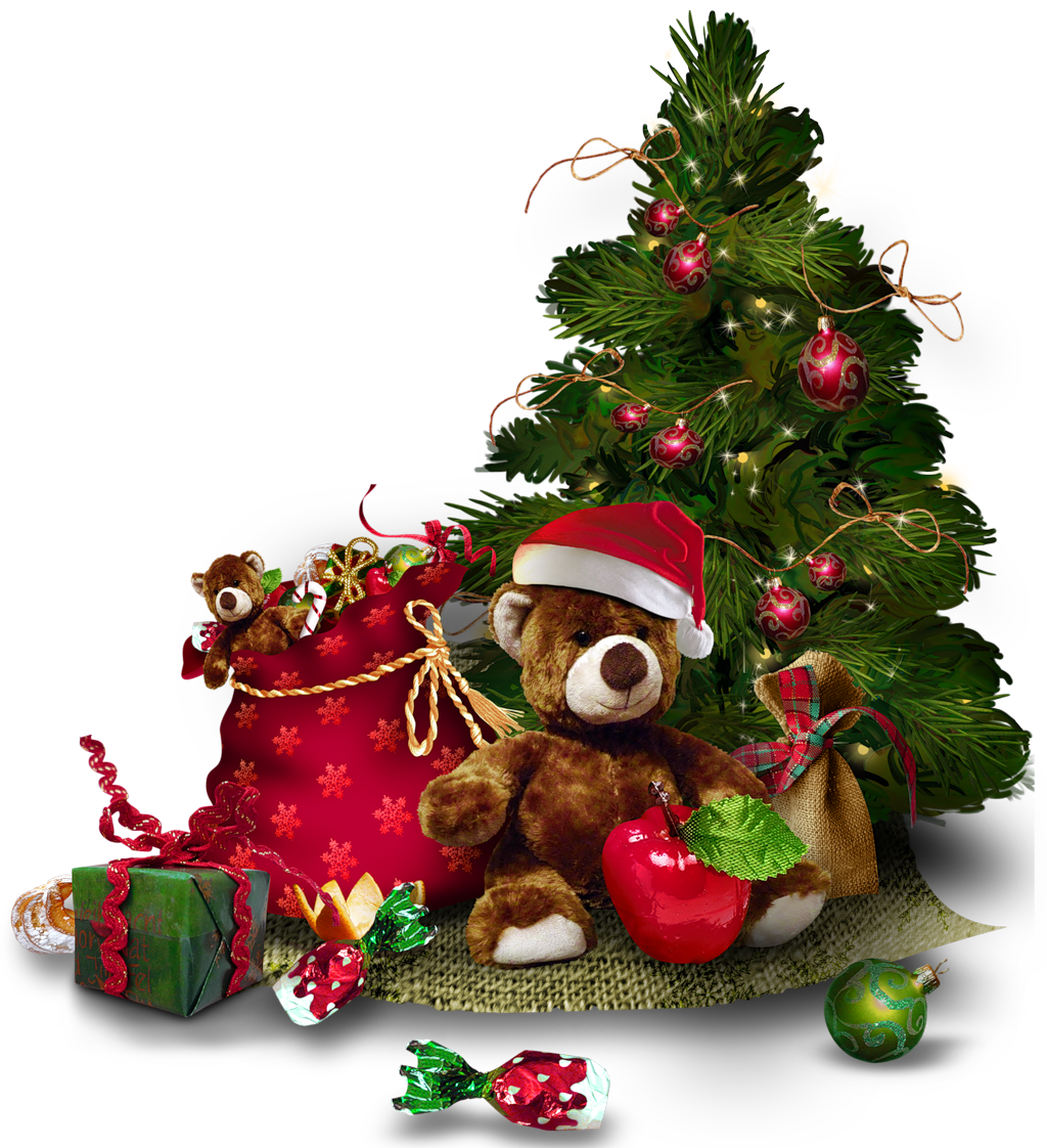 Teddy clipart transparent PNG Fullsize with Tree