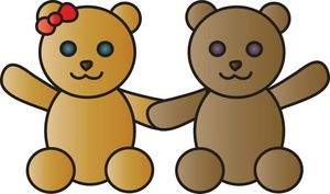 Teddy clipart two Hands Bears Holding Image Two