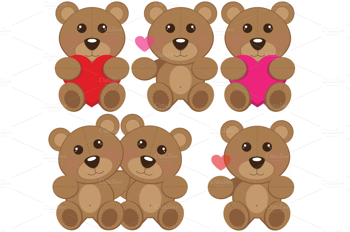 Teddy clipart two Bears Pictures Two Art Zone