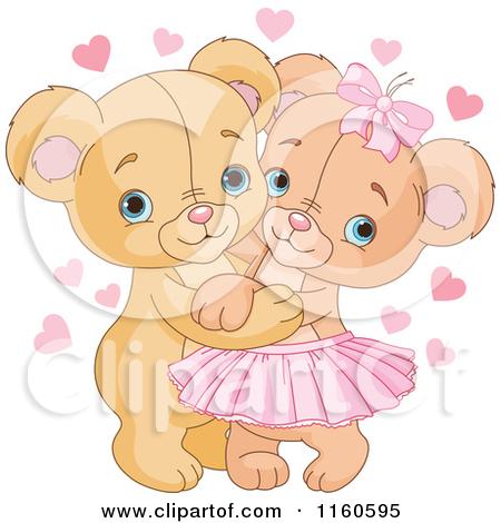 Kisses clipart cute teddy bear Two hugging teddy bears hugging