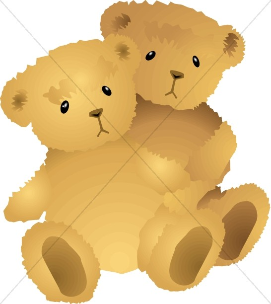 Teddy clipart two Baby Clipart Christian Baby Clipart