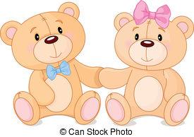 Teddy clipart two Teddy art 24 Two cute