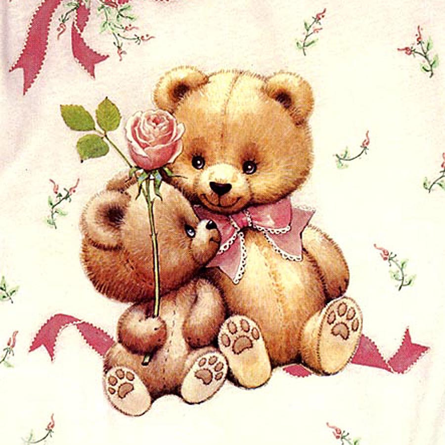 Teddy clipart two Art Transfers Fashion  Color