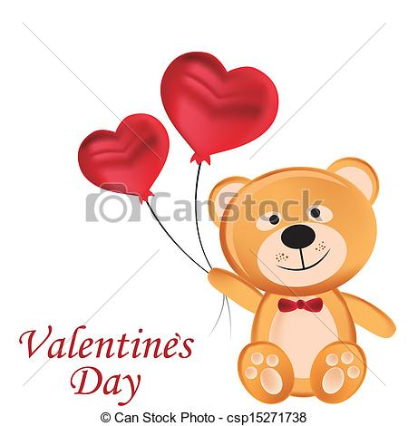Teddy clipart valentines day teddy bear Beautiful happy day Vectors