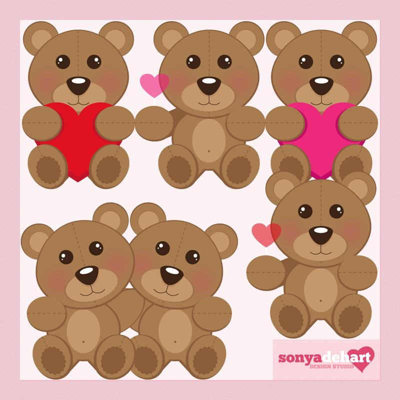 Teddy clipart valentines day teddy bear On Art by sonyadehart Clip