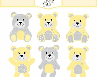 Teddy clipart yellow baby With Baptism Teddy ON Shower
