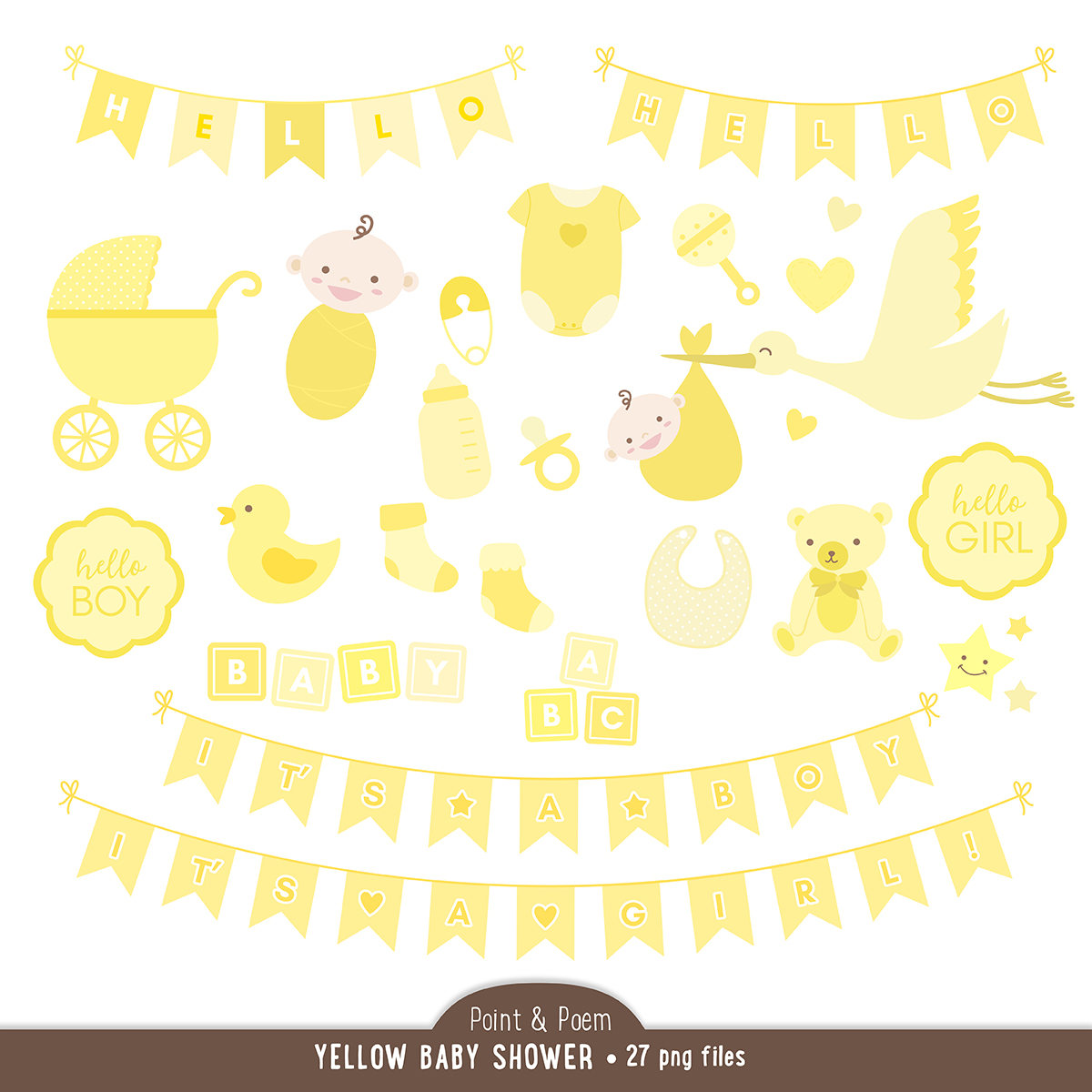 Teddy clipart yellow baby File This Gender Shower is