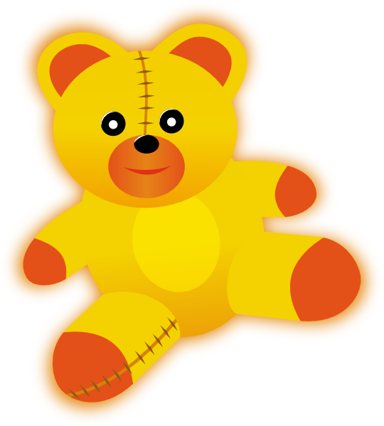 Teddy clipart yellow baby Yellow Download at vector this